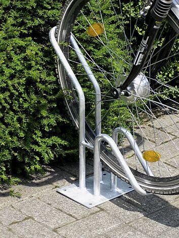 Fahrradständer HERVEY einseitig, tief, zum Aufdübeln, 1 Stellplatz