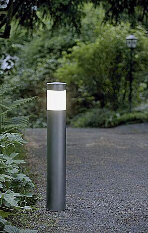 Pollerleuchte ENNOS, Edelstahl pulverbeschichtet in DB 703 eisenglimmer