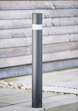 Pollerleuchte IXELLES, mit 3p-Technologie, in DB 703 eisenglimmer