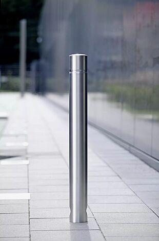 Poller JEREZ (3p-Technologie) mit umlaufender Rille aus Edelstahl