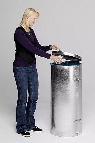 Abfallbehälter SOMERSET, zum freien Aufstellen, feuerverzinkt