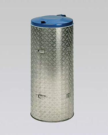 Kompakt-Abfallsammler BENTLEY, Deckelfarbe in RAL 5010 enzianblau