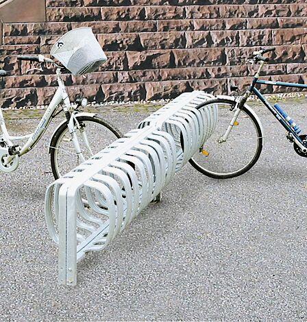 Fahrradständer TOUR doppelseitig, zum Einbetonieren, 6 Stellplätze, feuerverzinkt
