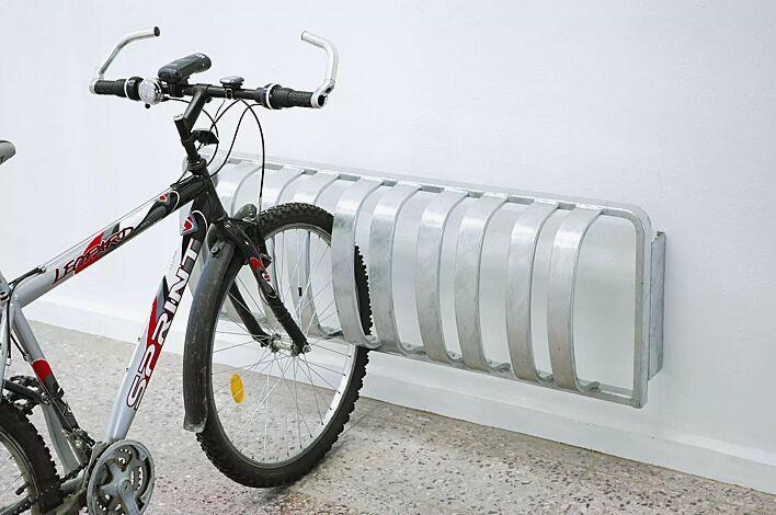 Fahrradständer TOUR zur Wandbefestigung, 3 Stellplätze, feuerverzinkt