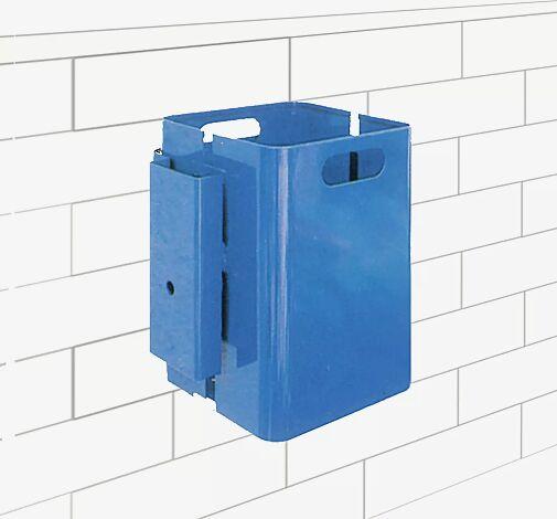 Abfallbehälter CORNER, 35 Liter, zur Wandbefestigung, in RAL 5005 signalblau (Mehrpreis)