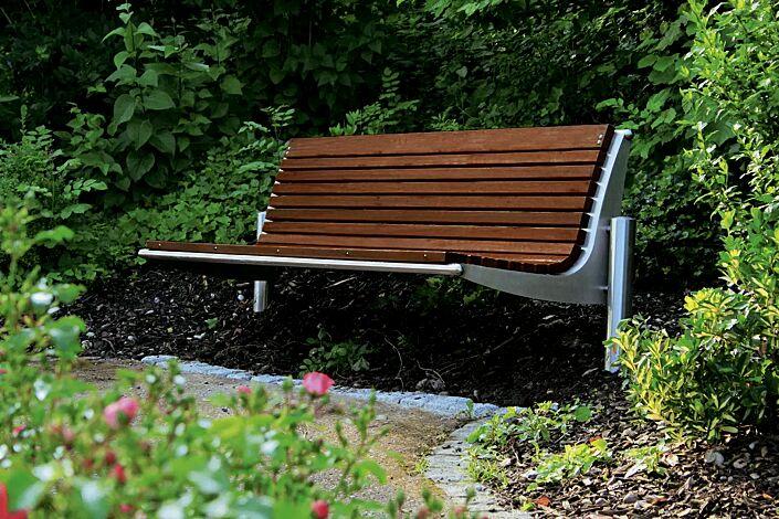 Sitzbank WIEN mit Rückenlehne, Breite 2090 mm