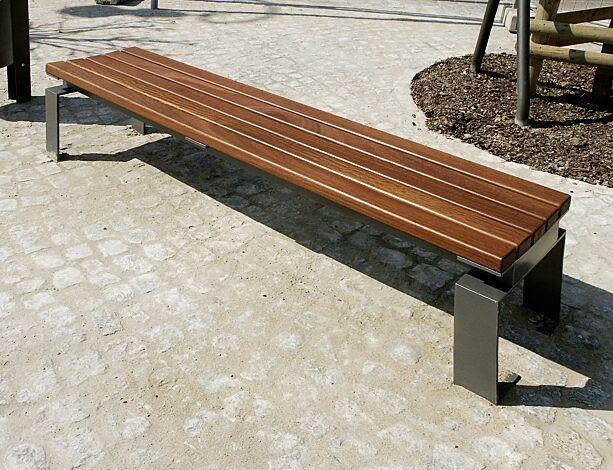 Sitzbank MAGIC ohne Rückenlehne, Stahlteile in DB 703 eisenglimmer
