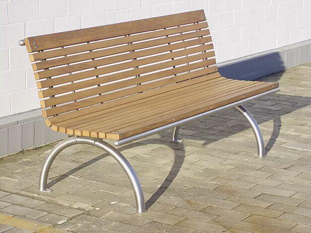 Sitzbank SELVA, mit Hartholzbelattung