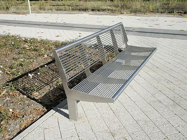 Sitzbank CARPI mit Rückenlehne, Breite 1800 mm