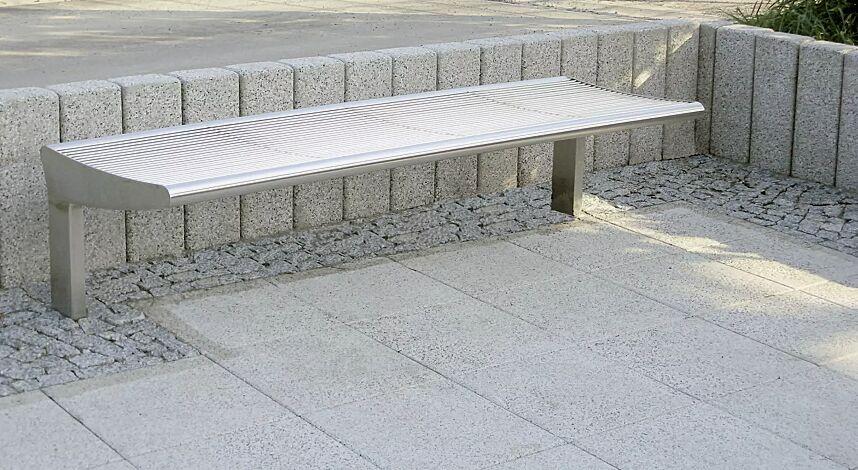 Sitzbank CARPI ohne Rückenlehne, Breite 1800 mm, gerade Ausführung