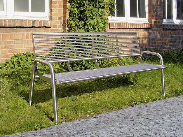 Sitzbank SIENA aus Edelstahl geschliffen