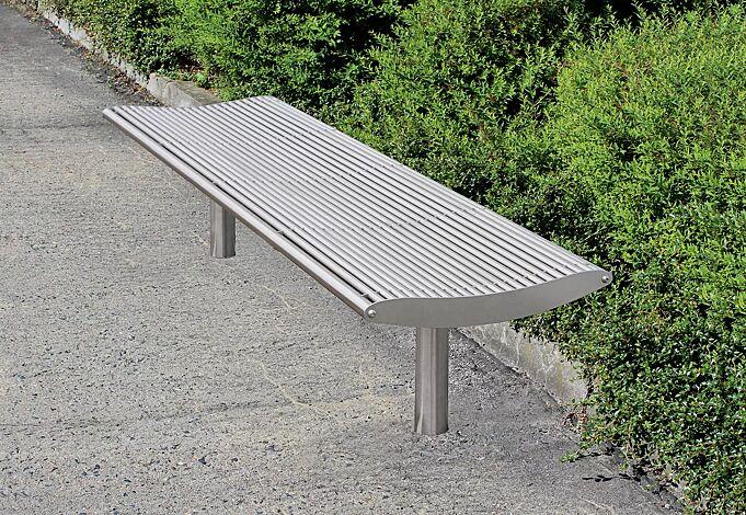 Sitzbank OLBIA ohne Rückenlehne, Edelstahl