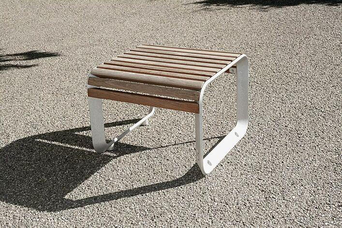 Sitz PORTIQOA ohne Rückenlehne, mit Jatobaholzbelattung