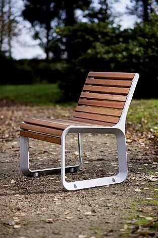 Sitz PORTIQOA mit Rückenlehne, mit Jatobaholzbelattung