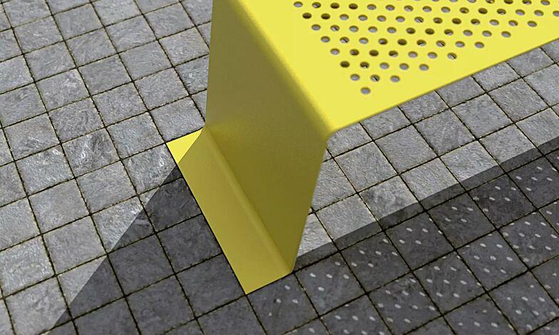 Sitzbank SINUS ohne Kunststoffnoppen, in Sonderfarbe (auf Anfrage)