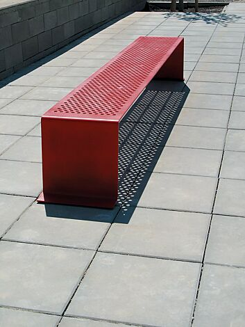 Sitzbank SINUS ohne Kunststoffnoppen, in RAL 3003 rubinrot