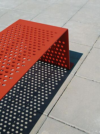 Detail: Sitzfläche ohne Kunststoffnoppen