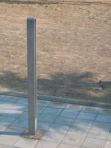 Poller MIELON zum Aufdübeln bei -100 mm, in RAL 9007 graualuminium