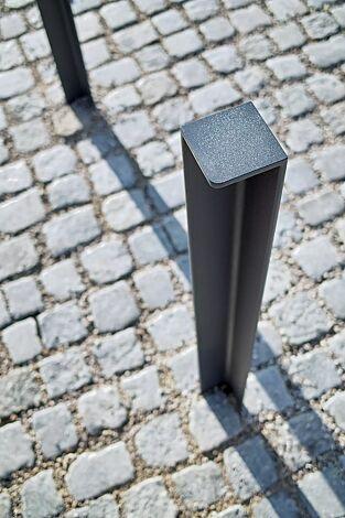 Poller LOT zum Aufdübeln bei -100 mm, in DB 703 eisenglimmer