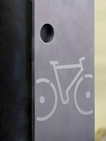 Detail: Fahrradsymbol