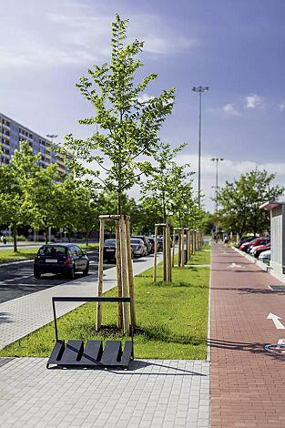 Fahrradständer VELO mit Griffstange, einseitig, 2 Stellplätze, in RAL 7016 anthrazitgrau