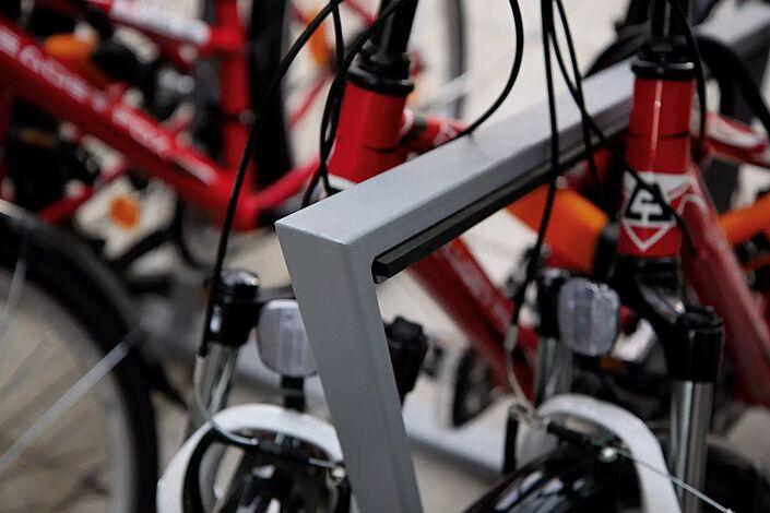 Detail: integrierter Gummistreifen