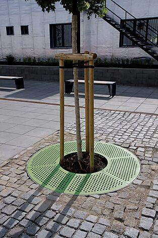 Baumschutzrost SINUS in RAL 6010 grasgrün