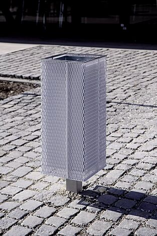 Abfallbehälter NANUK, Korpus: Streckmetall