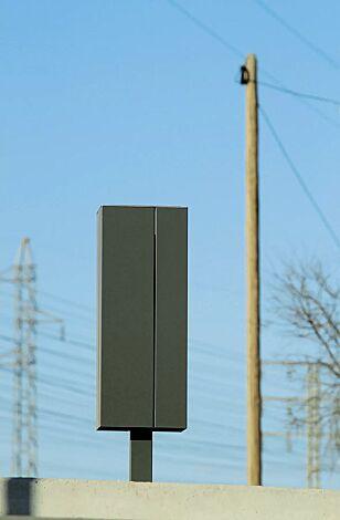 Abfallbehälter NANUK, quadratisch, ohne Schutzdach, Korpus: Stahlblech, in DB 703 eisenglimmer<br>