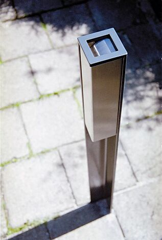 Standascher VALET, 1 Liter, zum Aufdübeln, Stahlteile in RAL 7016 anthrazitgrau