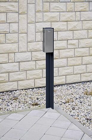 Standascher VALET, 2 Liter, zum Aufdübeln, Stahlteile in RAL 7016 anthrazitgrau