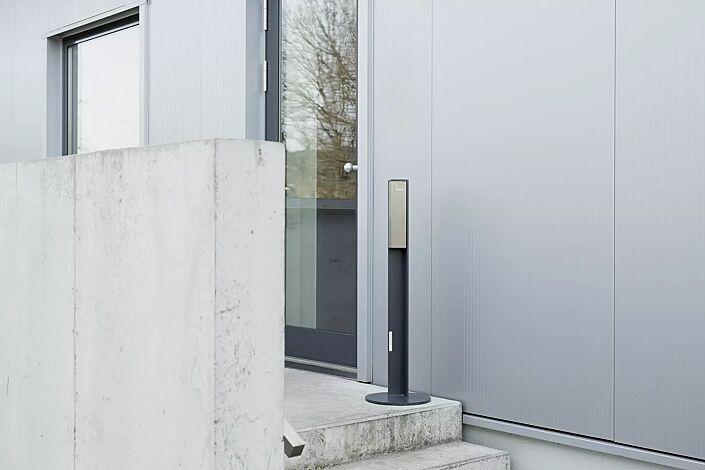 Standascher VALET, 1 Liter, zum freien Aufstellen, Stahlteile in RAL 7016 anthrazitgrau