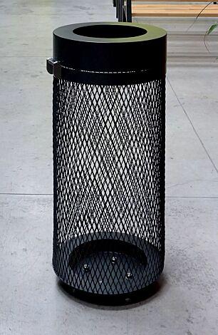 Abfallbehälter AEROPORTO in RAL 7016 anthrazitgrau