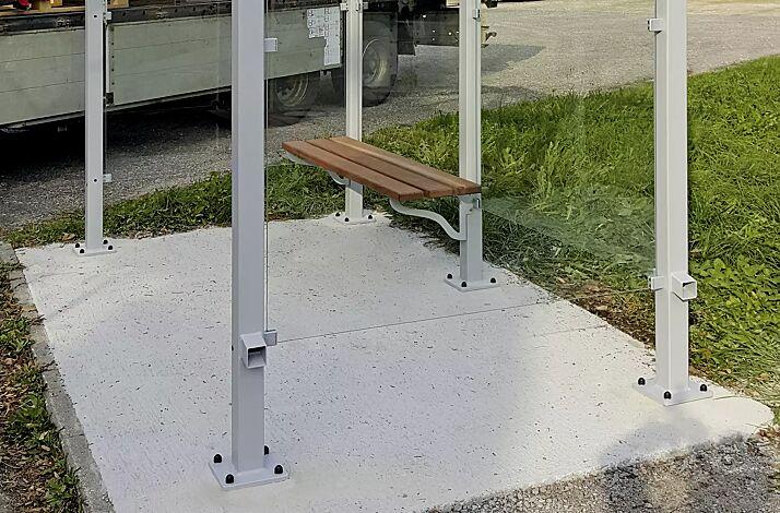 Sitzbank FERMO, Stützenbefestigung