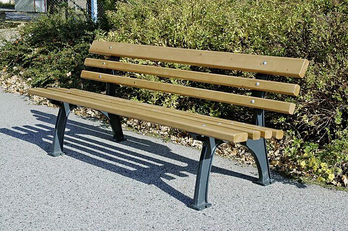 Sitzbank MESSINA mit Holzbelattung
