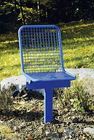 Drahtgittersitz TARVIS, 1-Sitzer zum Einbetonieren in RAL 5017 verkehrsblau
