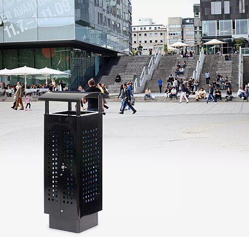 Abfallbehälter SANTIAGO, in schwarz matt