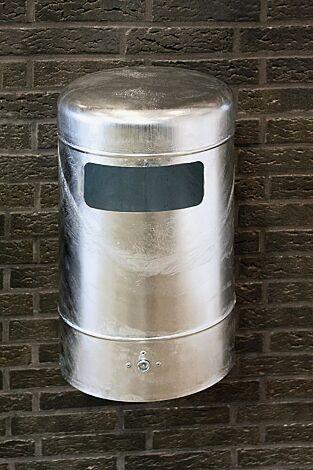 Abfallbehälter MOGALE, feuerverzinkt