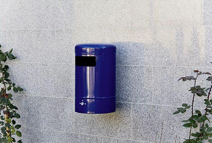 Abfallbehälter MOGALE, in RAL 5013 kobaltblau