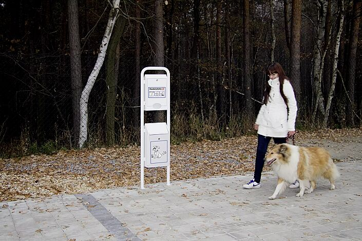 Hundetoilette COLLIE, zum Aufdübeln, in RAL 9016 verkehrsweiß