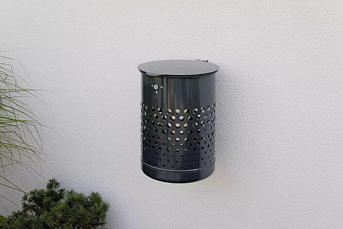Abfallbehälter KÖLN II, in RAL 7016 anthrazitgrau