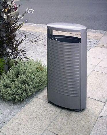 Abfallbehälter BASIC in RAL 9002 grauweiß