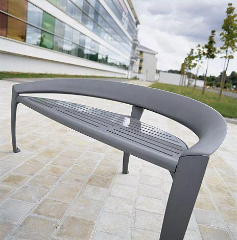 Sitzbank NASTRA mit niedriger Rückenlehne, in DB 701 eisenglimmer