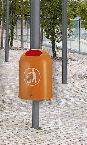 Abfallbehälter DERBY aus Polyethylen, in gelborange ähnlich RAL 2000