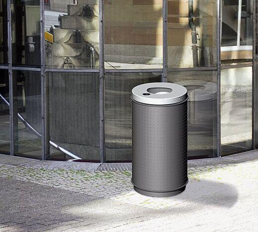 Abfallbehälter RUNCORN, 50 Liter, mit Ascher