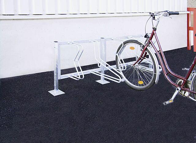 Fahrradständer SALVADOR zum Aufdübeln, 5 Stellplätze