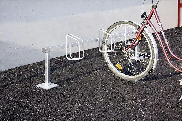 Fahrradständer CARTAGO zum Aufdübeln, 3 Stellplätze