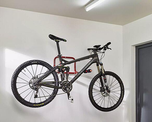 Fahrradwandparker ISLAND, 2 Stellplätze, mit schwarzem Schaumstoff ummantelt