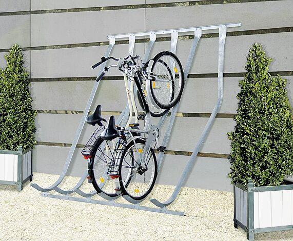 Fahrradständer DOVER zur Wandbefestigung, 6 Stellplätze