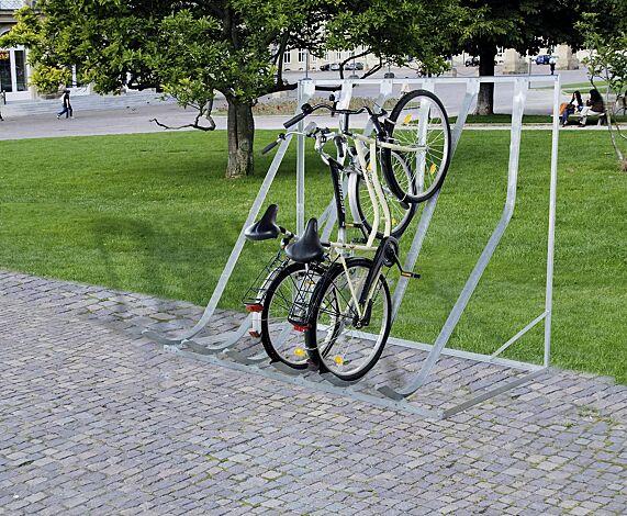 Fahrradständer DOVER zum freien Aufstellen, 6 Stellplätze